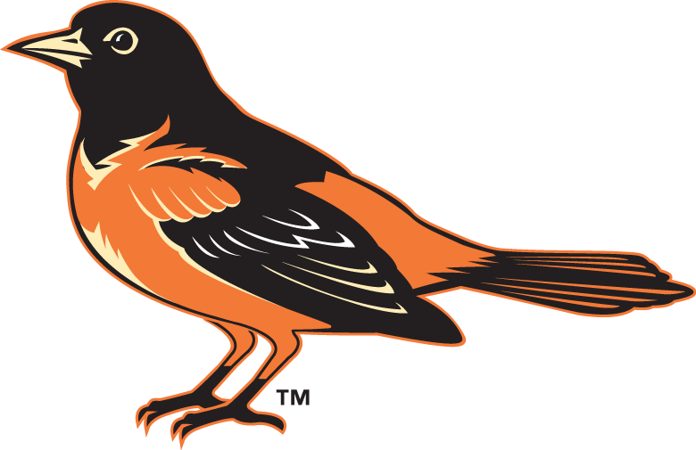 baltimore orioles lifelike bird hat logo
