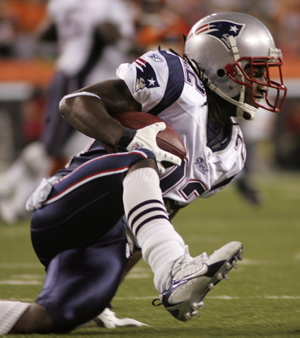 New England Patriots Asante Samuel Carson Palmer interception