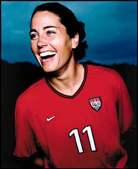 ESPN soccer MLS commentator Julie Foudy