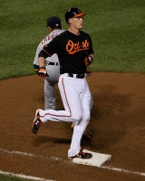 Matt Wieters crosses the base